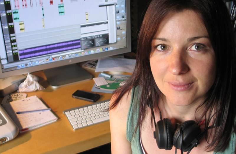 Elouise Whitmore, female sound engineer and sound designer