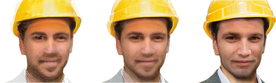AI-generated images of typical engineer